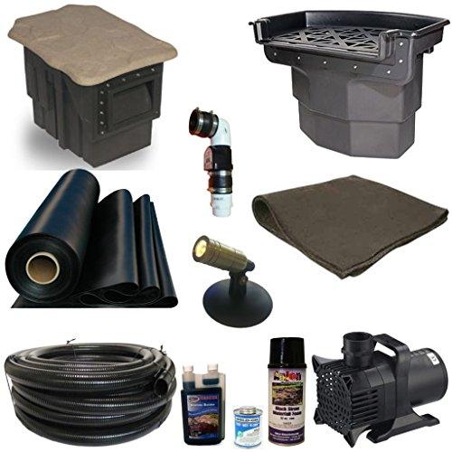 Patriot Complete Pond Kit Atlantic Pondbuilder Filters 5200 GPH Pump 20 x 30 LH0