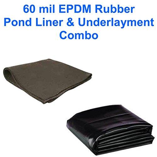 8 x 10 Patriot 60 mil EPDM Pond Liner Underlayment Combo