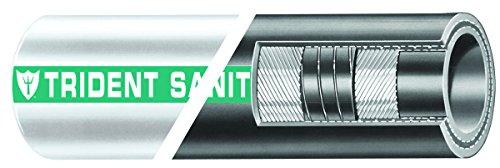 Trident Marine 101-1124 Epdm Rubber Premium Sanitation Hose With Wire Helix 60 Psi Maximum Pressure 125 Length