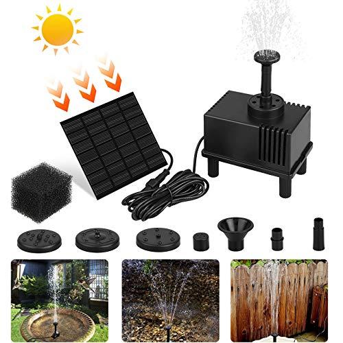 EEEKit Solar Fountain Pump for Birdbath 15W Solar Water Fountain Solar Powered Fountain Pump Kit for Small Pond Fish Tank Garden10FT Cord