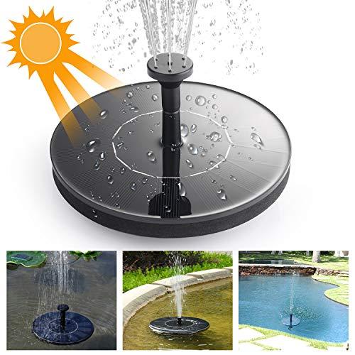 Mixhomic Solar Fountain Pump 14W Monocrystalline Silicon Solar Panel for Garden Pond Sprinklers and Fountain Aquarium Small Pond Bird Feeder for Bird Bath