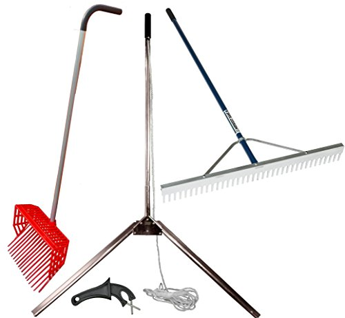 Heavy Duty Lakeamp Pond Seaweed Cutter  Rake  Pitch Fork Combo Kit For Shoreline Managementamp Aquatic Weed Control