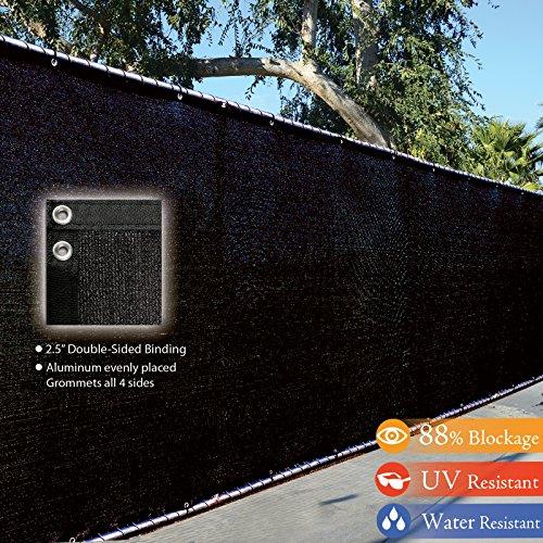 6 X 50 3rd Gen Black Fence Privacy Screen Windscreen Shade Fabric Mesh Tarp aluminum Grommets