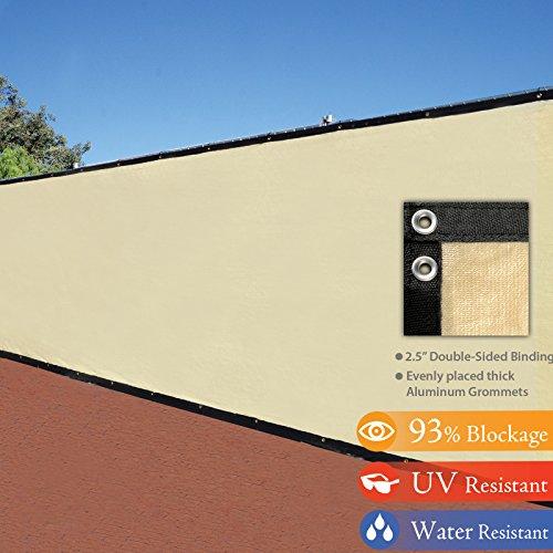 6 X 50 3rd Gen Tan Beige Fence Privacy Screen Windscreen Shade Fabric Mesh Tarp aluminum Grommets