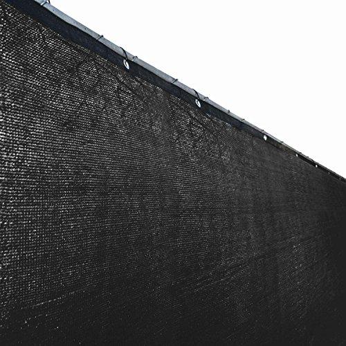Aleko 4 X 25 Feet Black Fence Privacy Screen Outdoor Backyard Fencing Privacy Windscreen Shade Cover Mesh Fabric