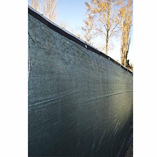 Aleko 6 X 25 Fence Privacy Screen Windscreen Shade Cover Mesh Fabric Dark Green