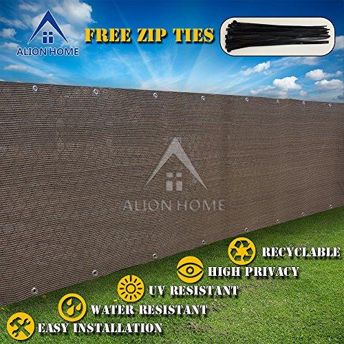 Alion Home&copy Hdpe Privacy Screen Mesh For Pool Patio Deck Balcony Railing Fence No Black Trim 4x 26