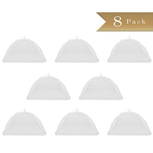 Set of 8 - TrueCraftware 12 x 12 Pop-up Mesh Screen Food Cover Umbrella Picnic Tents - Keep Out Bugs