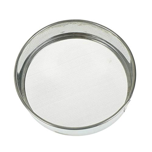 BIRD WORKS Stainless Steel Pure Flour Sieve Colander Kitchen Cake Baking Tools Powdered Sugar Filter Mesh Sifting Strainer Silver