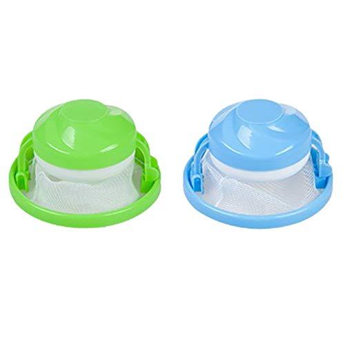 KFSO 2PCS Household Reusable Washing Machine Floating Filter Bag Lint Mesh Bag Hair Filter Net Pouch C