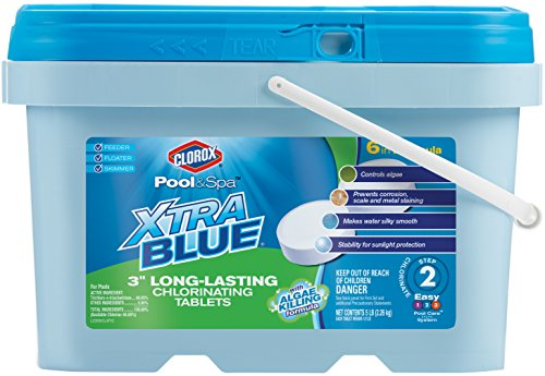CLOROX Pool&Spa XtraBlue 3-Inch Long Lasting Chlorinating Tablets 5-Pound Chlorine