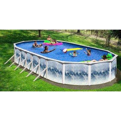 Oval Deep SS Series Oval Swimming Pool Size 33 L x 18 W