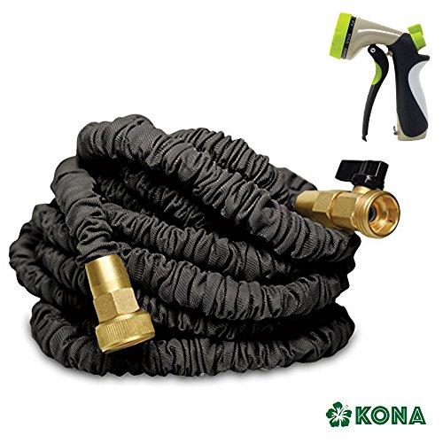 50 Heavy Duty Expandable Garden Water Hose By Kona  Free 8-way Sprayer