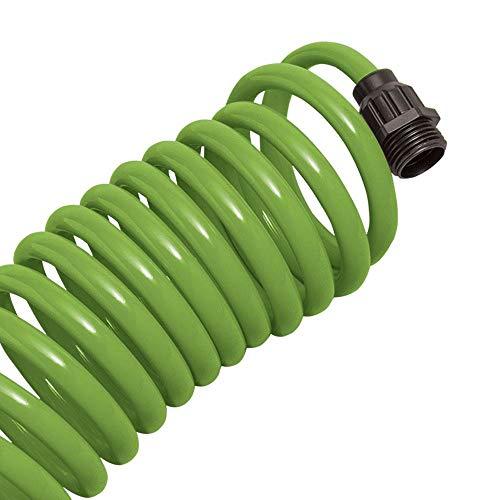 Orbit 25 Foot Green Coil Garden Hose wABS Threads 8 Spray Patterns 3 Pack