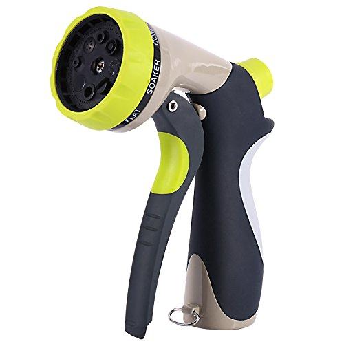 Hose Nozzle 8 Water Stream Settings Garden Sprayer With Flow Controlamp Handle Lock Leak Free Heavy Duty Garden