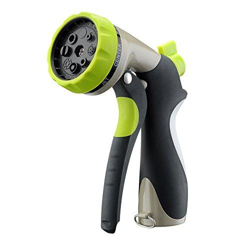 Victsing Garden Hose Nozzle Hand Spray Nozzle - Heavy Duty 8 Adjustable Pattern Pistol Grip Front Trigger Water