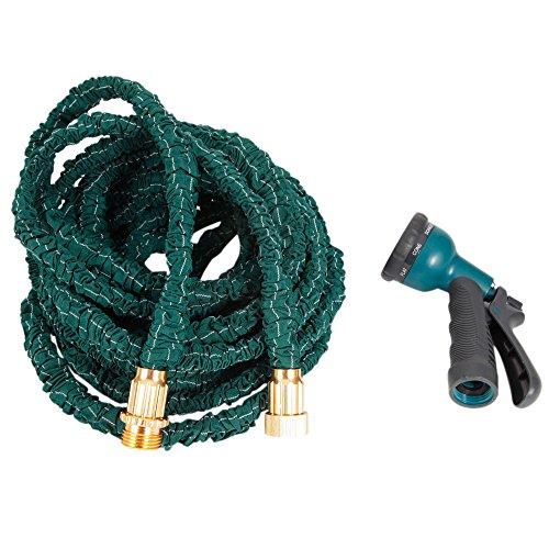 FCH Flexible Expandable Car Garden Water Hose With Sprayer Nozzle Head