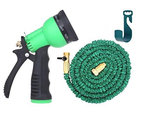 Riemex 50ft Best Expandable Garden Water Hose -triple Latex- Brass Fittings Connectors Sprayer Flexible - For