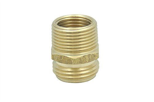 LTWFITTING 34 MHT x 34 MIP OR 12 FIP Hose Adapter Brass Garden Hose FittingPack of 5