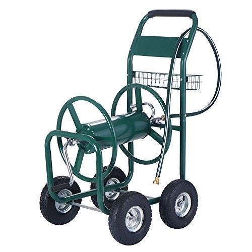300 FT Garden Water Hose Reel Cart Outdoor Heavy Duty Yard Patio Lawn Water Planting Tool