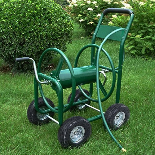Garden Water Hose Reel Cart 300ft Outdoor Heavy Duty Yard Water Planting by JDM Auto Lights