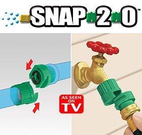 Snap 20 Garden Hose Connectors w Bonus Nozzle