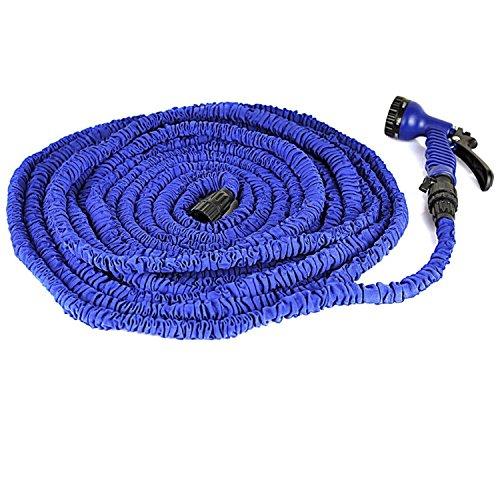 Klaren 75ft Latex Expanding Hose Magic Flexible Expandable Garden Water Hose With 8 Functions Spray Nozzle blue