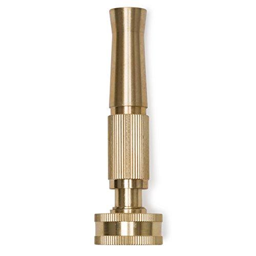 Morvat Solid Brass Heavy Duty Twist Garden Hose Nozzle Adjustable Power Sprayer Fits Standard Hoses Garden Sprayer Spray Nozzle Power Washer Nozzle