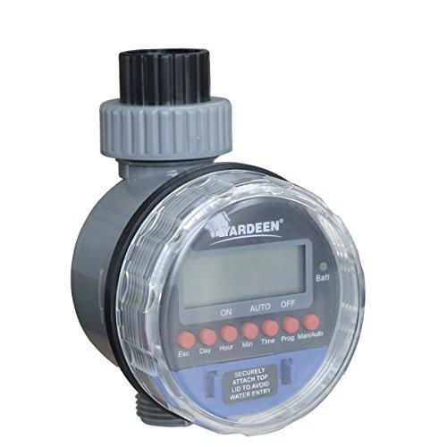 Yardeen Electronic Water Timer Garden Irrigation Controller Digital Intelligence Watering System LCD Waterproof Color Blue