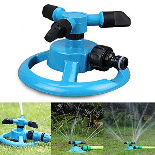 Lawn SprinklersWater Sprinkler System Impulse Long Range Durable Rotary Three Arm Water Sprinkler for Garden Lawn Kids Play