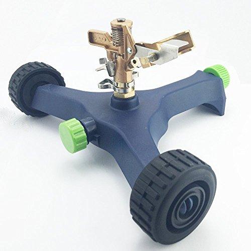 A5015 Brass Impact Head Sprinkler on Large Plastic Wheel base