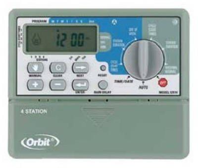 Orbit Sprinkler System 4-station Standard Indoor Mounted Control Timer 57114
