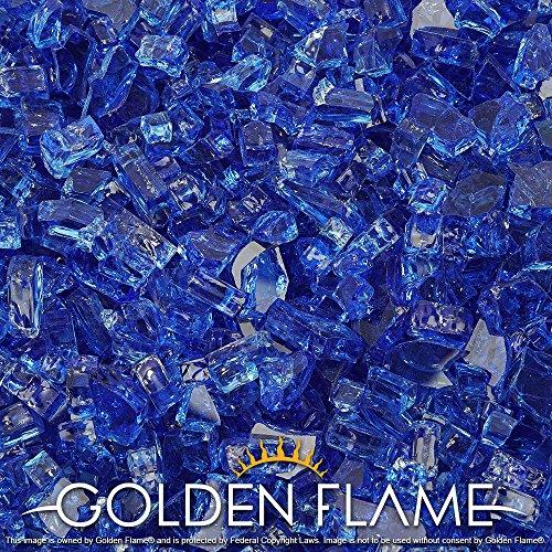 Golden Flame&reg 10-pound  Fire Glass  14-inch Cobalt Blue