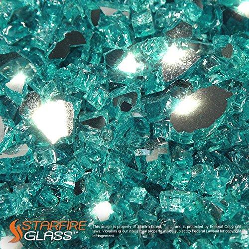 Starfire Glass&reg 20-poundquotfire Glass&quot 12-inch Caribbean Blue reflective