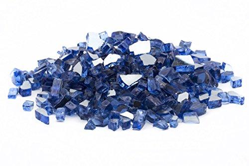 Dragon Glass 14&quot Reflective Fire Glass 25 Lb Cobalt Blue