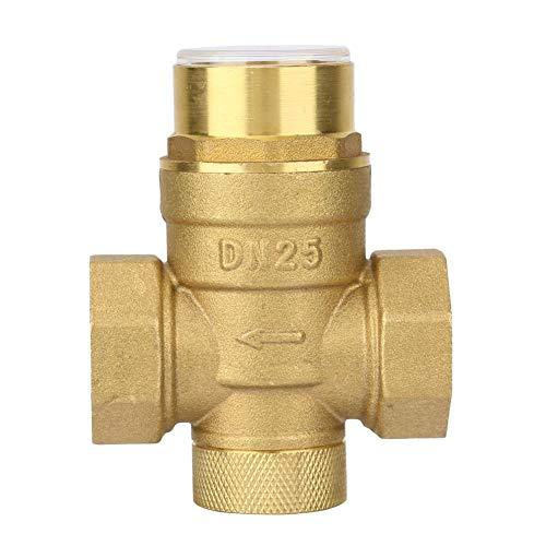 Liukouu Water Control 1 inch Pressure Reducing Valve Brass Water Pressure Regulator with Gauge Meter