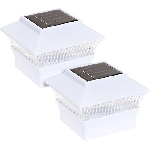 Reusable Revolution Solar Powered 4 x 4 LED Post Cap Light White 2 Pack