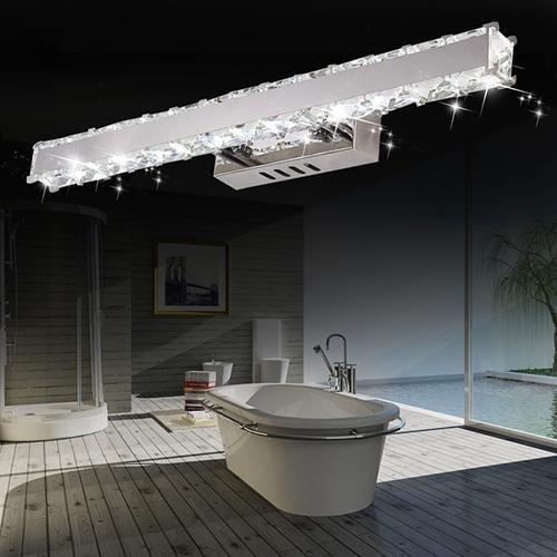 Modern Crystal LED Bathroom Lighting Integrated Metal 110V-120V for Bathroom