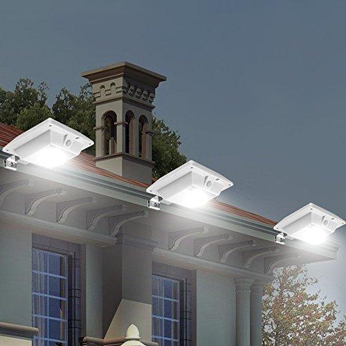 Cdq Solar Motion Sensor Light Outdoor 150lm Brighter Design Pir Sensor Solar Powered Led Waterproof Durable