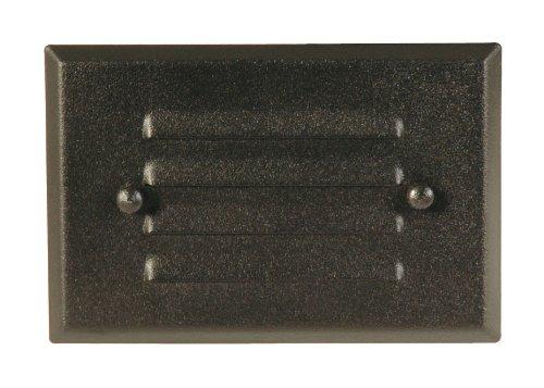 Moonrays 95757 Metal Light Fixture for Low Voltage Landscape Lighting Rectangle Design for Deck Black