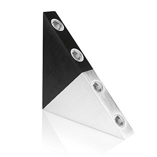 Lemonbest Modern Triangle 5w Led Wall Sconce Light Fixture Indoor Hallway Up Down Wall Lamp Spot Light Aluminum