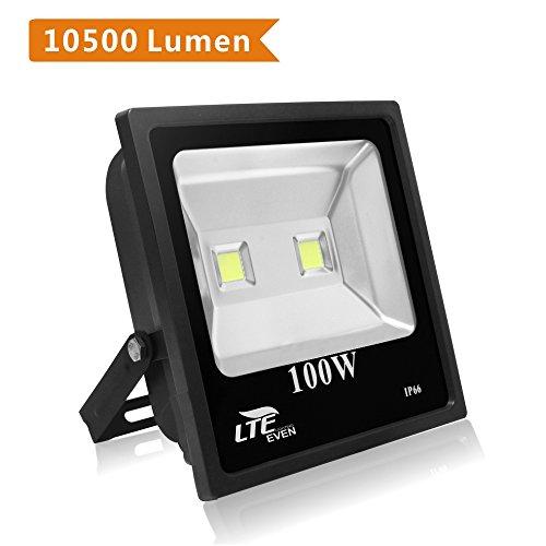 Lte 100w Super Bright Outdoor Led Flood Lights10500 Lumen250w Hps Bulb Equivalent6000k Ip66 Waterproof Flood