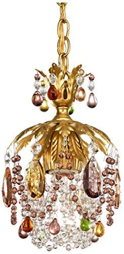 Schonbek 1253-26SJ Swarovski Lighting Rondelle Pendant Lighting Fixture French Gold
