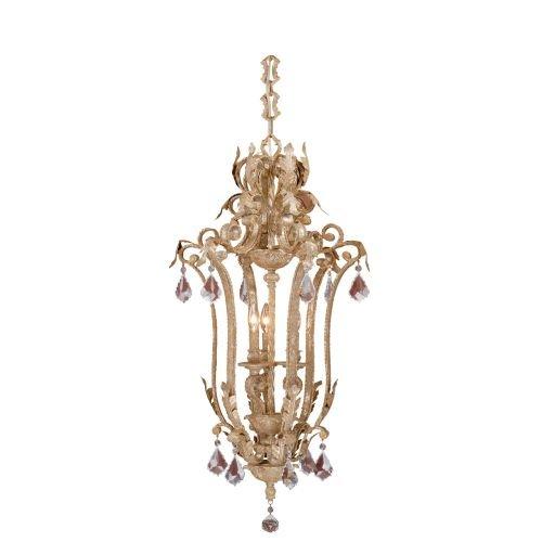 Vaxcel USA EPPDU180PP Empire 3 Light Traditional Foyer Pendant Lighting Fixture in Gold