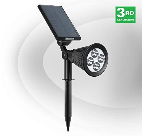 Humabuilt Solar Power Led Garden Spotlight - Cool White 6500k - Outdoor Spot Light Great For Landscaping Trees