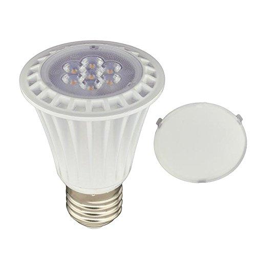 LEDwholesalers UL PAR20 Dimmable LED Spot Light Bulbs with Interchangeable Wide Angle Flood Lens 8-WattWarm White1330WW