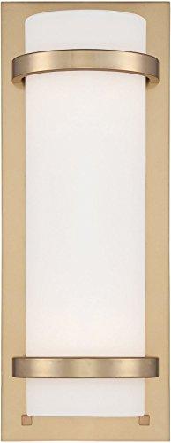 Minka Lavery Wall Sconce Lighting 341-248 Glass 2 Light 200 Watt 17H x 6W Sconce Light in Brass