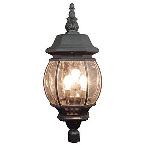 Deluxe Matt Black Color 39 Tall Exterior Outdoor Lamp Post Lighting TP0032B-PT