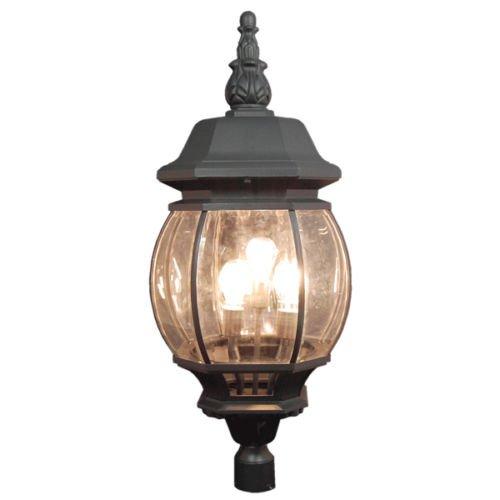 GHP 39 Tall Matt Black Color Outdoor Lamp Post Lightning 120v