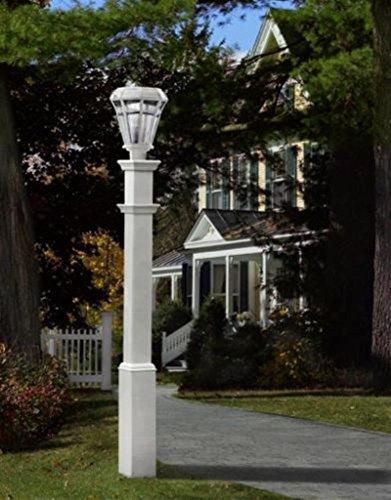 GHP 74 White High Quality Sturbridge Outdoor Lamp Post